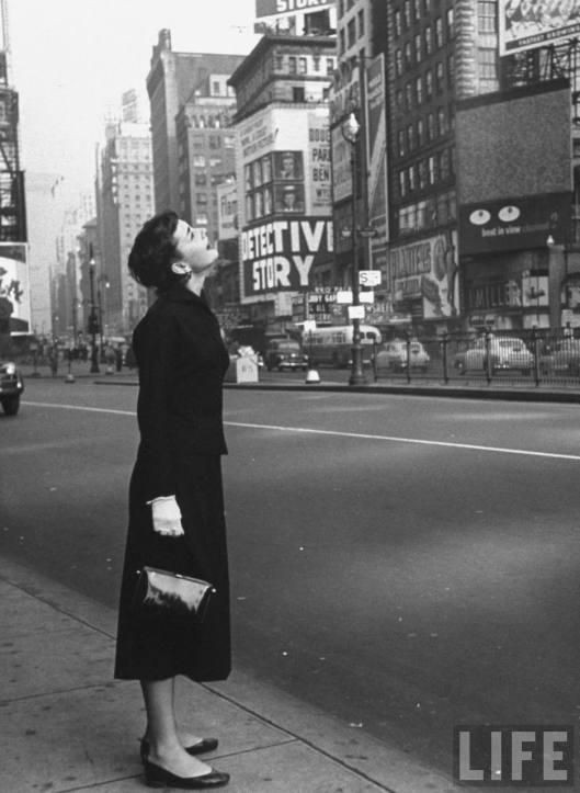 Audrey Hepburn en Times Square