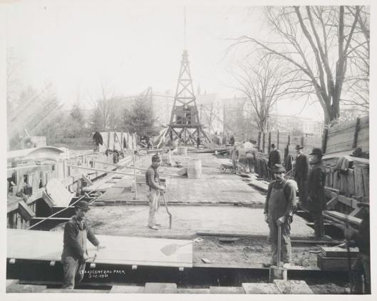 Construcción de Central Park. 1861