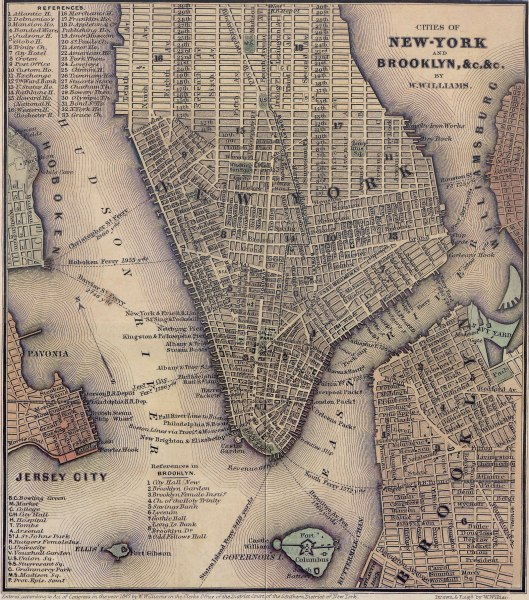 Ciudades de Nueva York y Brooklyn (1847)
