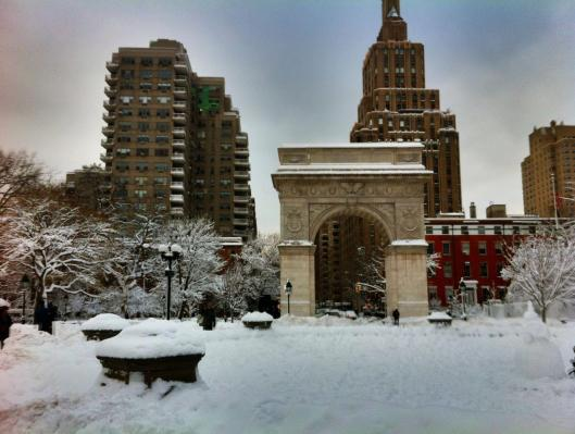 invierno en Washington Square Park