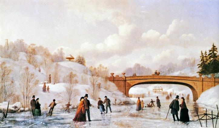 Skating in Central Park - Johann Culverhouse  (1865)