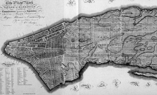 Nueva York. Plan urbanístico de 1811