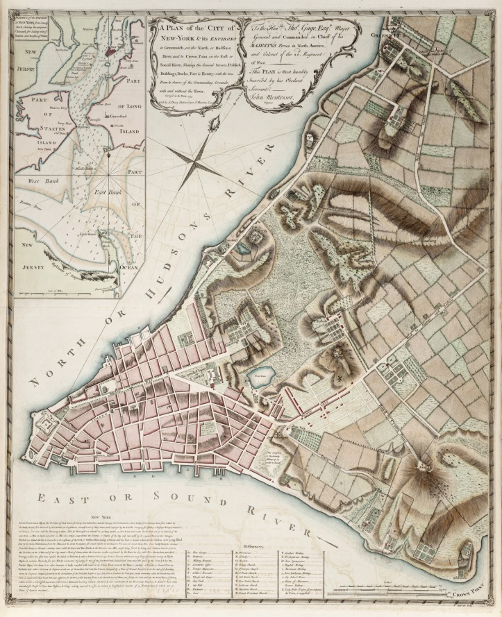 Map of New York City - 1775