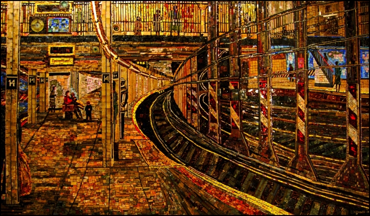 New York Subway Station,  Edith Kramer