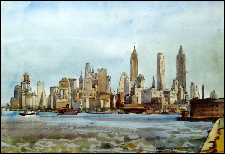 New York Skyline (1937) - Reginald Marsh