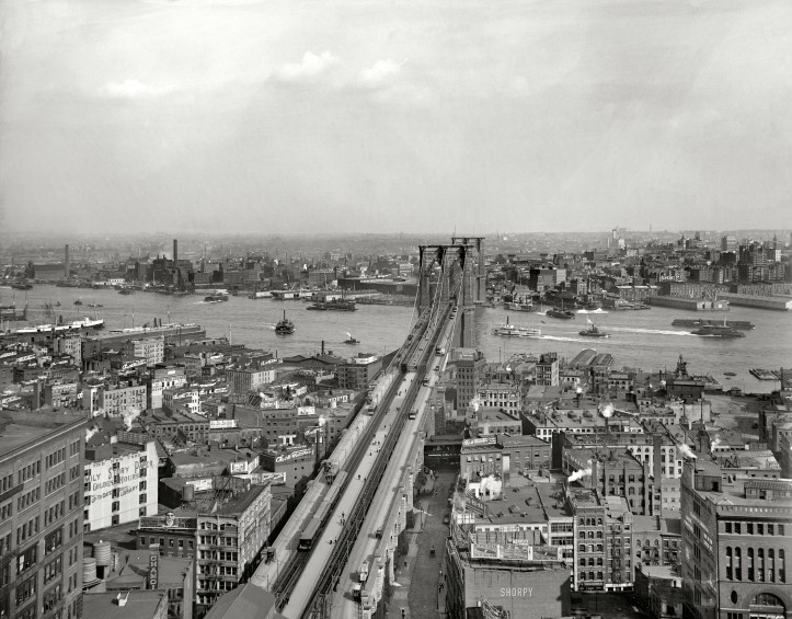 East River and Brooklyn from Manhattan 1903