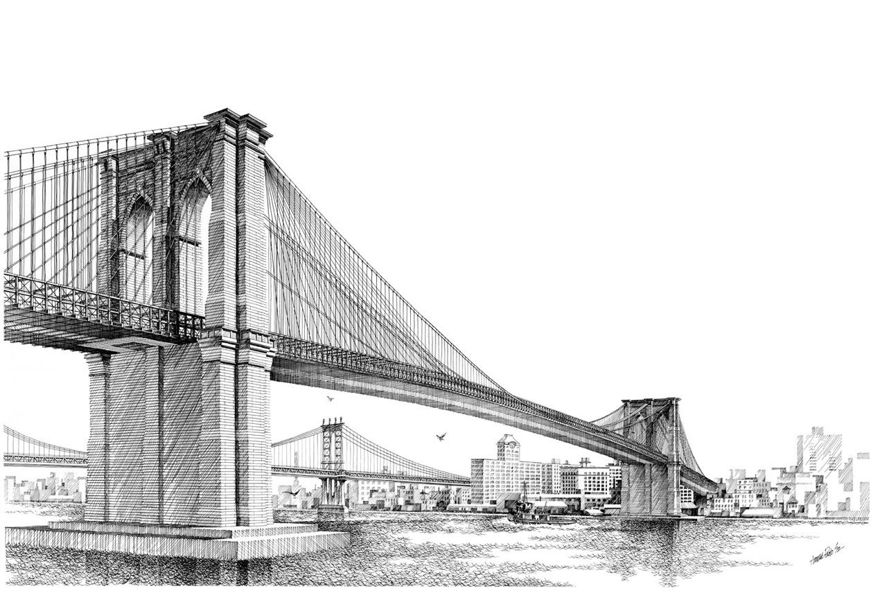 Dibujo Puente De Brooklyn Imagui
