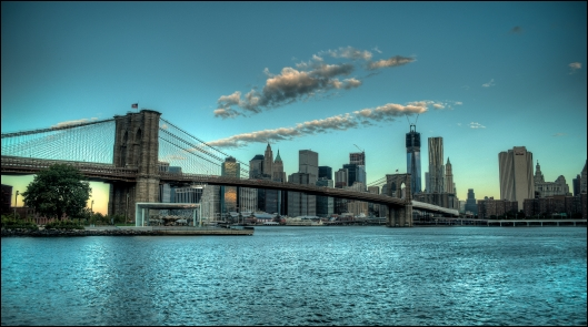The Brooklyn Bridge In The Early NYC Morning