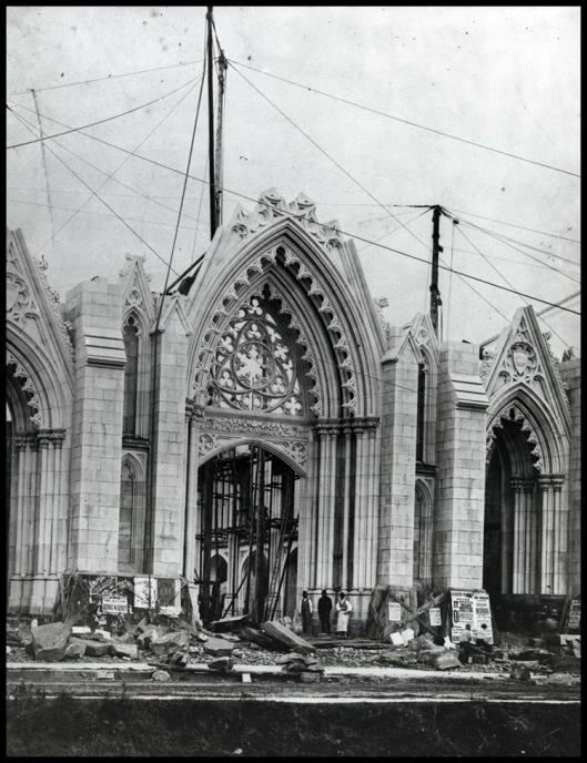Catedral de San Patricio en construcción (1850)