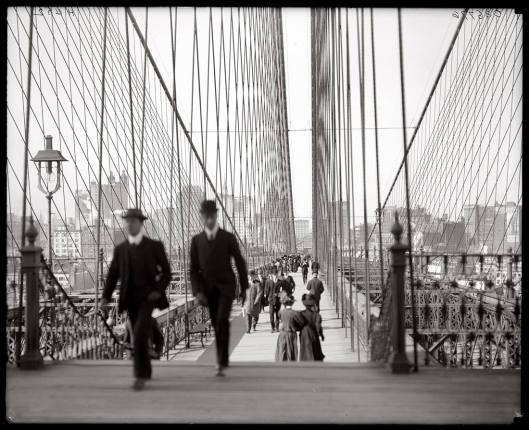 The Brooklyn Bridge, 1910.