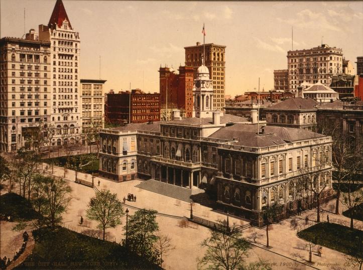 City Hall-1900 Detroit Publishing