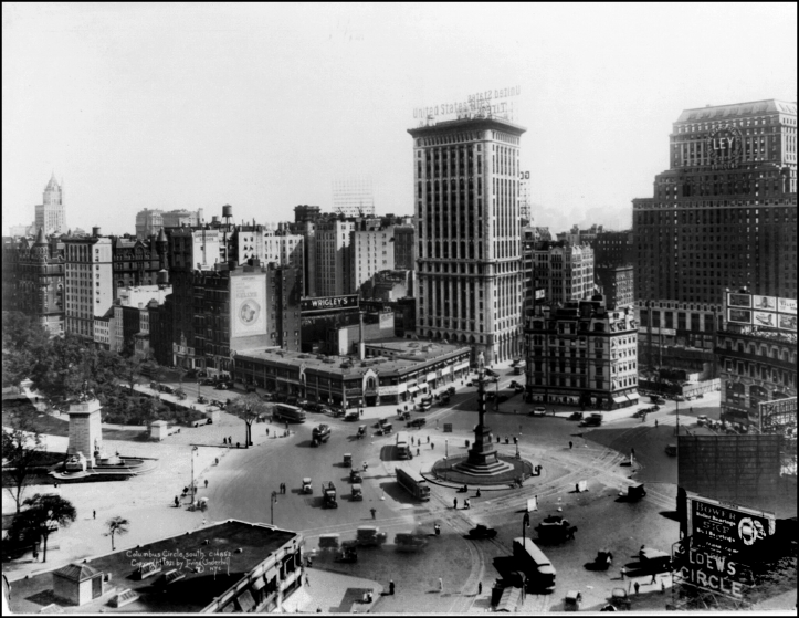 Columbus Circle (vista sur) - 1921