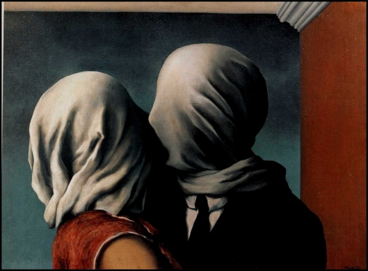 Los amantes (Rene Magritte, 1928)