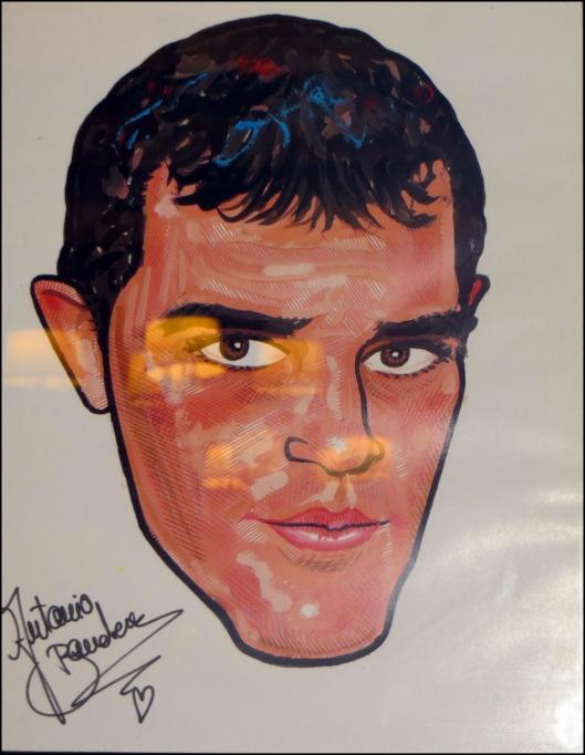 Caricatura del actor español Antonio Banderas en Sardi´s