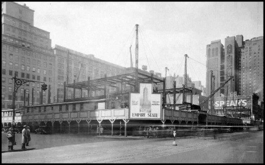 EARLY CONSTRUCTION OF EMPIRE STATE BUILDING