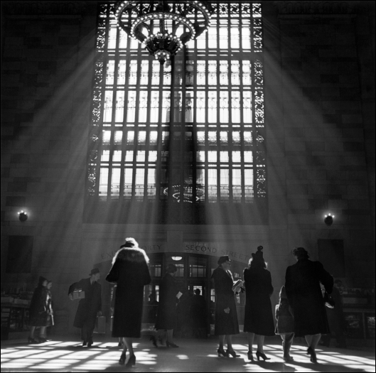 Light Streams Into Grand Central Terminal Through a Large Window