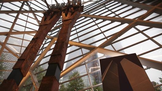Dos estructuras del original World Trade Center son expuestas en el Museo de la Memoria