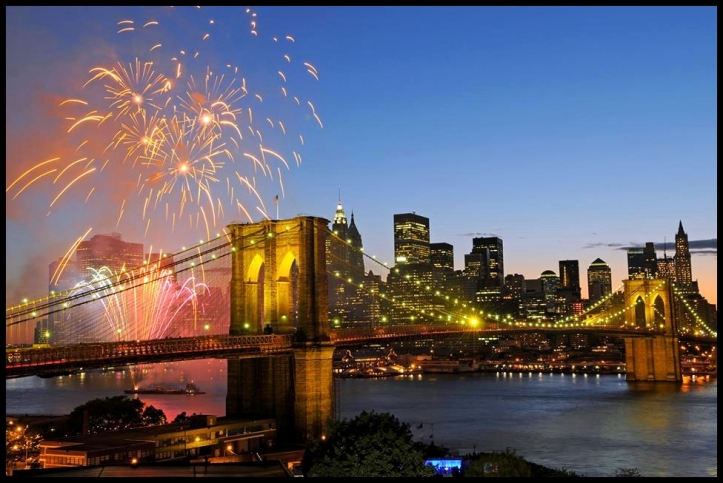 Fourth of July at Brooklyn