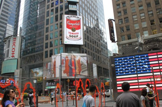 "Andy Warhol's famous ""Campbell's Soup Can"""