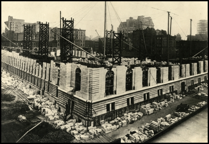New York Public library under construction