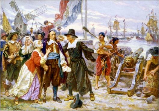 """The Fall of New Amsterdam"" -  Jean Leon Gerome Ferris (1754)"