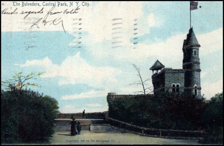 El Castillo Belvedere en una tarjeta postal publicada en 1905