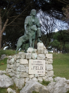 Estatua de Félix Rodriguez de la Fuente en Santander