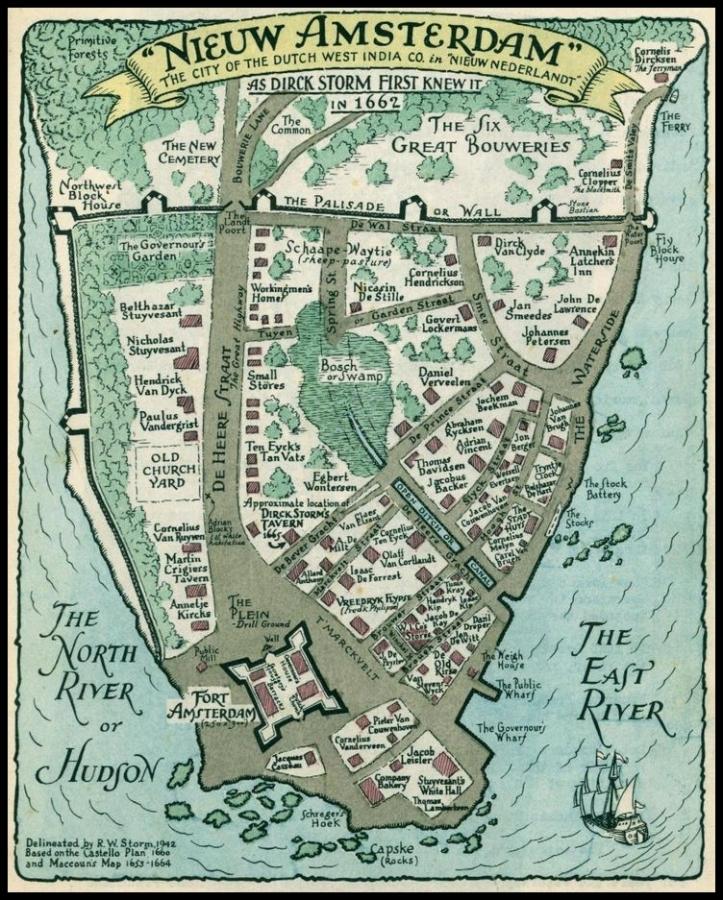 New Amsterdam 1662