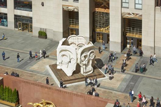 Masks (Pentagon) is on view at Rockefeller Plaza 2