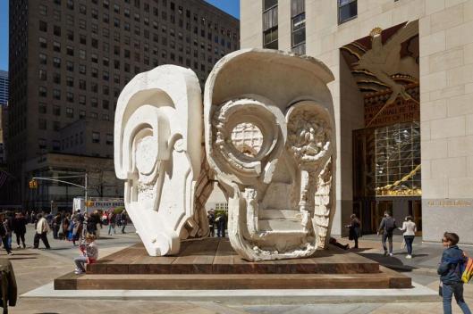 Masks (Pentagon) is on view at Rockefeller Plaza 3