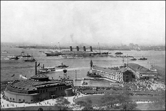 Primera llegada del Lusitania a Nueva York  (1907)
