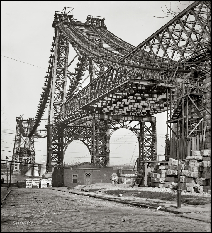 Construcción Williamsburg Bridge 1902