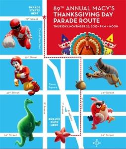 Desfile Acción de Gracias 2015 ruta
