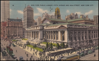 New York Public Library, Fifth Avenue and 42nd Street, New York City