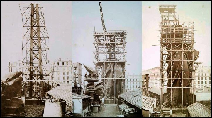 Construcción de la Estatua de la Libertad