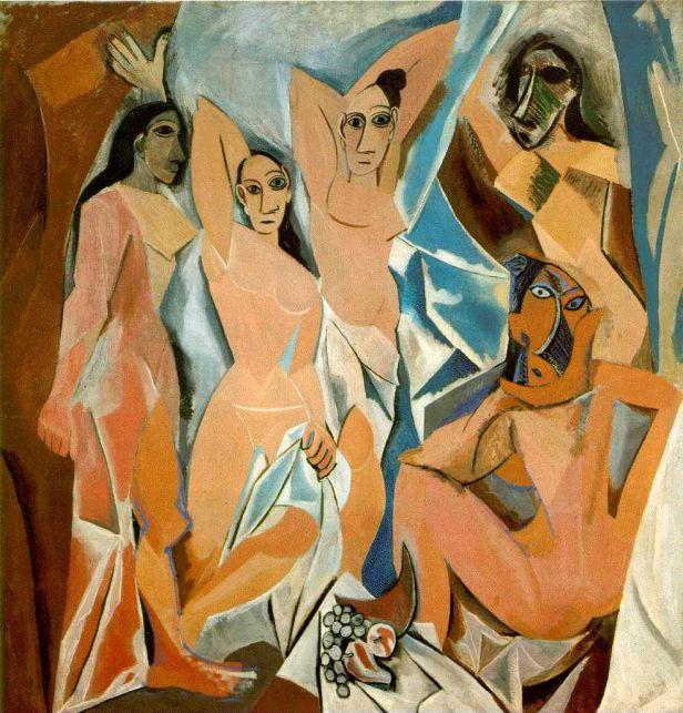 Las Señoritas de Avignon(1906) de Pablo Picasso