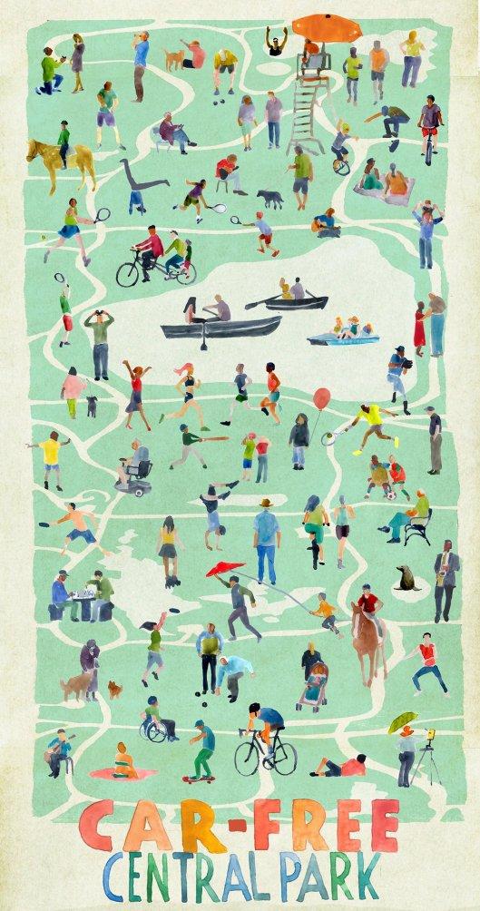 Central Park car free