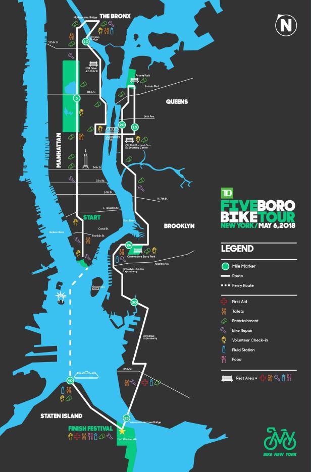 Five Boro Bike Tour 2018