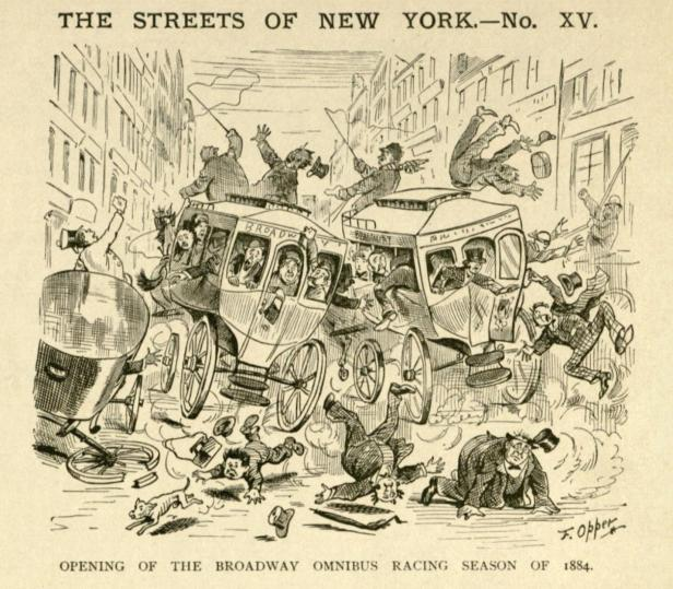 """The Streets of New York"", 1884"
