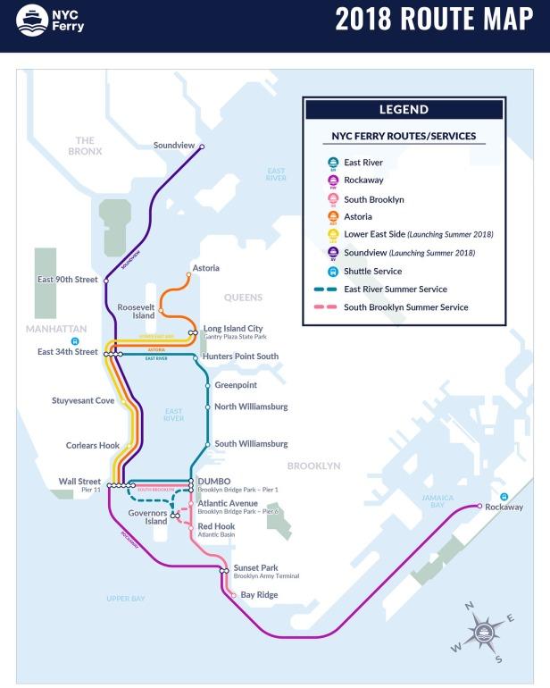 NYC Ferry rutas